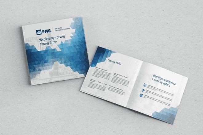 Folder reklamowy dla firmy PMG