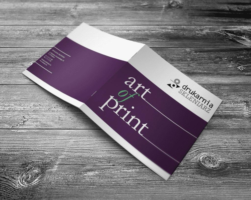 Projekt folderu reklamowego dla drukarni Skleniarz - okładka