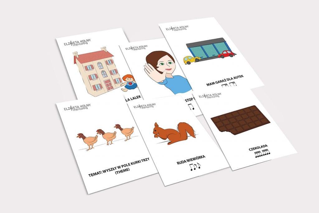 Karty z utworami Metody Suzuki