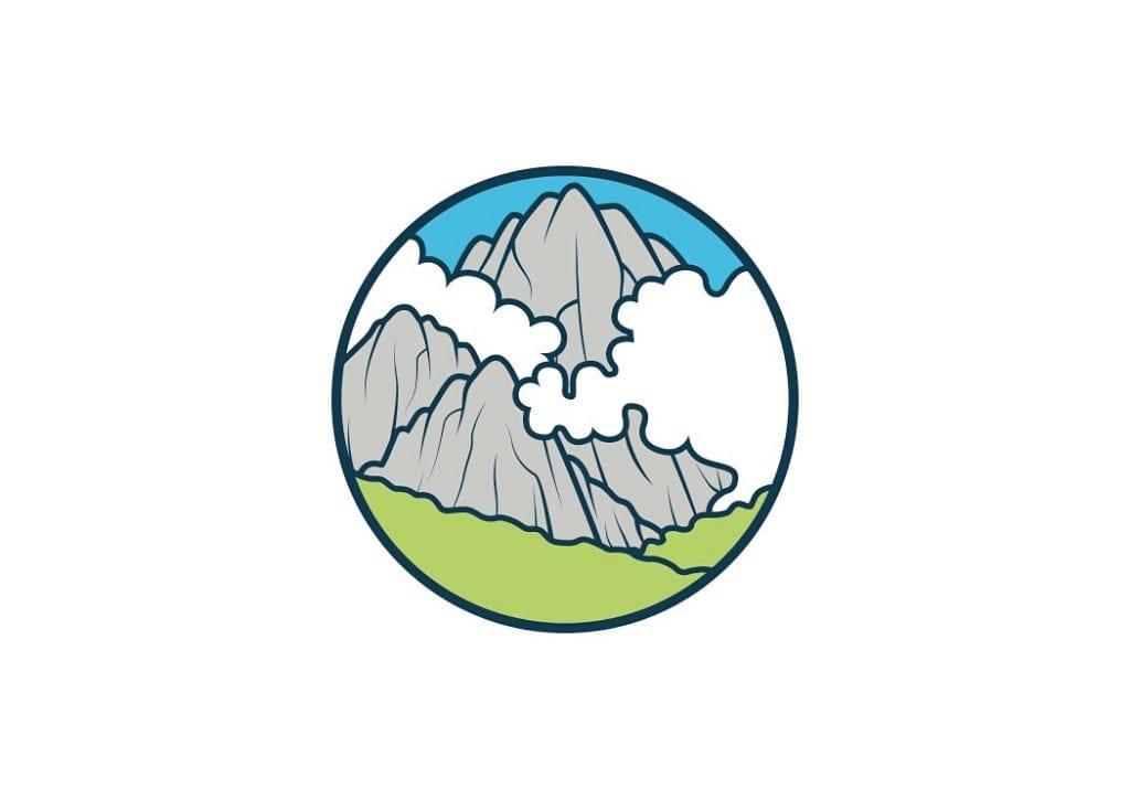 Projekt logo z górami