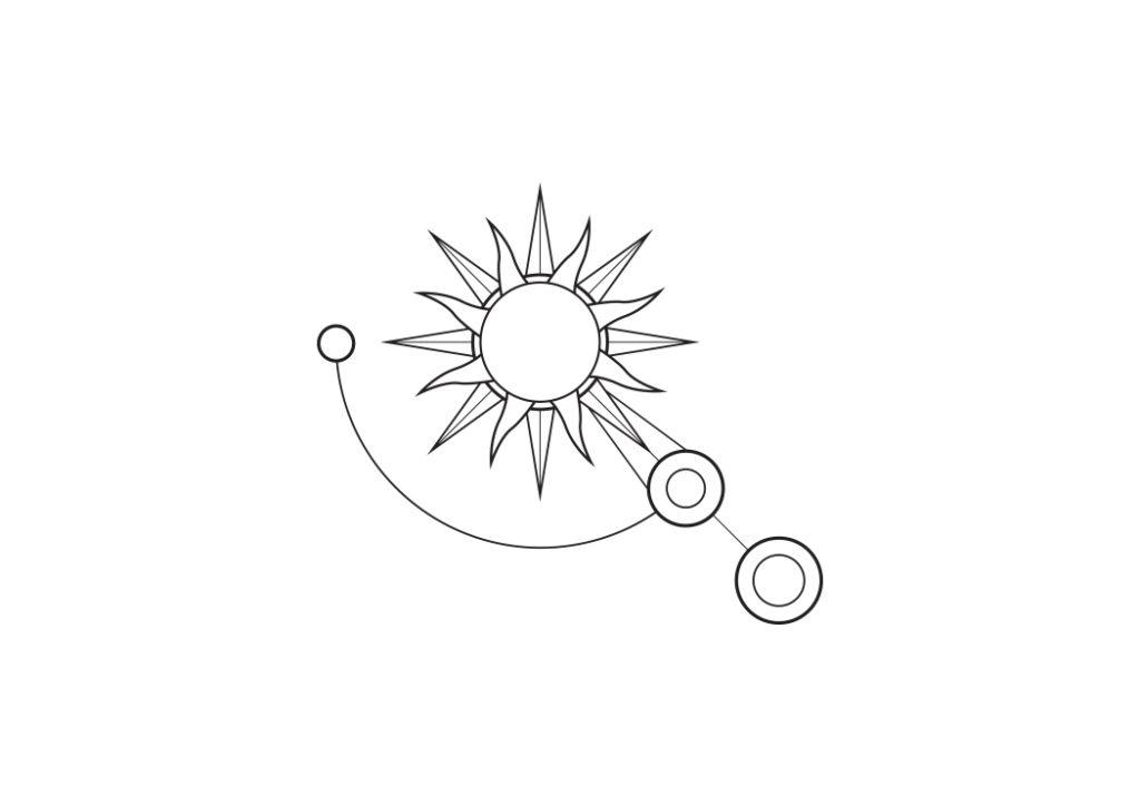 Projekt logo układ słoneczny